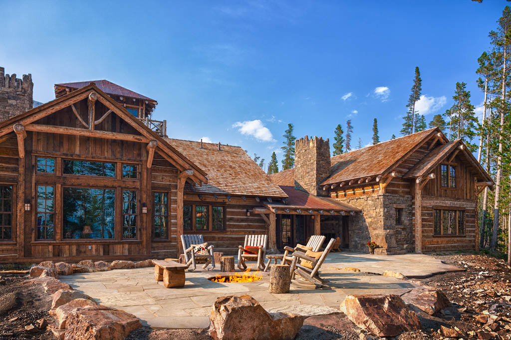 Foxtail Residence Big Sky Log Cabin 1